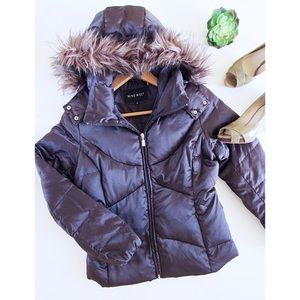 Brown Nine West Puffer Jackets Size S